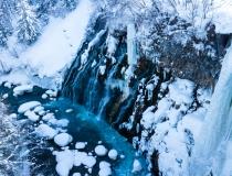 青い滝 白鬚の滝